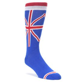 Blue-Red-British-Flag-Mens-Dress-Socks-K.-Bell-Socks