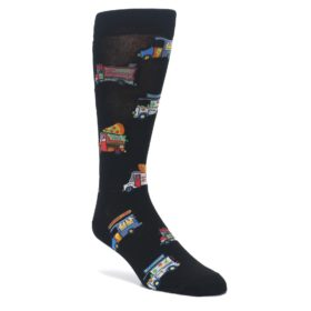 Black-Multi-Food-Trucks-Mens-Dress-Socks-K.-Bell-Socks