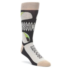 Brown Soft Shell Taco Socks by Statement Sockwear