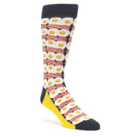 Eggs and Bacon Men's Novelty Socks by Statement Sockwear