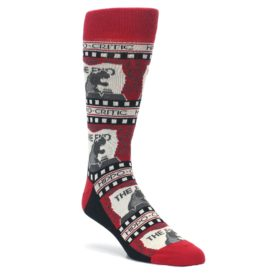 Movie Theater Hippo-Critic Men's Novelty Socks by Statement Sockwear