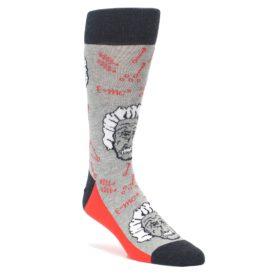 Gray Math Genius Einstein Socks