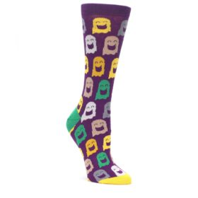 Purple Multi Ghosts Women's Dress Socks