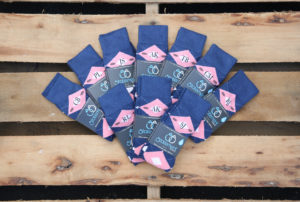 Flamingo Blush Petal Pink Navy Argyle Customized Monogram Groomsmen Dress Socks