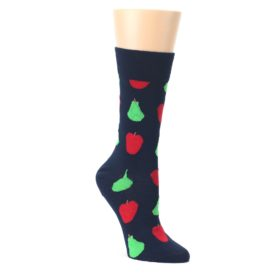 Navy-Red-Apple-Pear-Womens-Dress-Socks-Happy-Socks