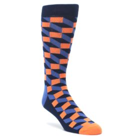 Navy-Orange-Blue-Optic-Mens-Dress-Socks-Happy-Socks