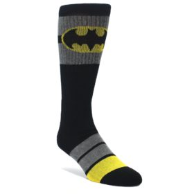 Black-Gray-Yellow-Batman-Logo-Mens-Casual-Socks-BIOWORLD