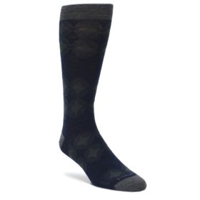 Deep-Navy-Agano-Diamond-Wool-Mens-Casual-Socks-Smartwool
