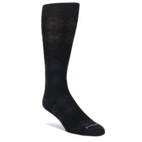 Black-Agano-Diamond-Wool-Mens-Casual-Socks-Smartwool
