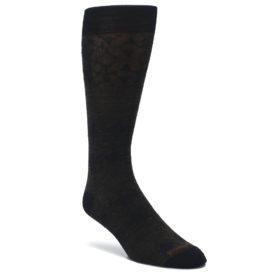 Chestnut-Black-Agano-Diamond-Wool-Mens-Casual-Socks-Smartwool