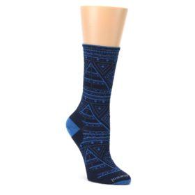 Navy-Blue-Wenona-Triangles-Wool-Womens-Casual-Socks-Smartwool