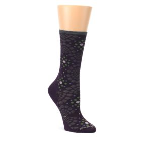 Purple-Green-Pompeii-Dots-Wool-Womens-Casual-Socks-Smartwool