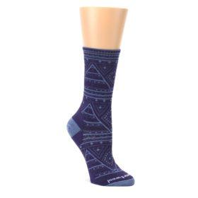 Purple-Wenona-Triangles-Wool-Womens-Casual-Socks-Smartwool