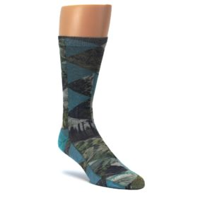 Forest-of-Triangles-Mens-Casual-Socks-Good-Luck-Sock