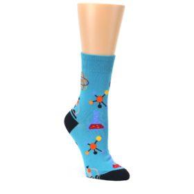 Blue-Science-Lab-Womens-Dress-Sock-Good-Luck-Socks