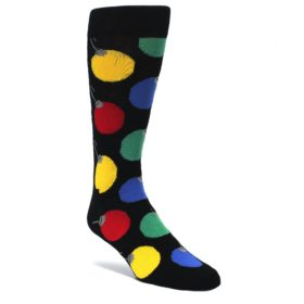 Black-Christmas-Bulb-Ornaments-Mens-Dress-Socks-Happy-Socks