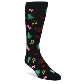 Black-Rock-n-Roll-Christmas-Mens-Dress-Socks-Happy-Socks