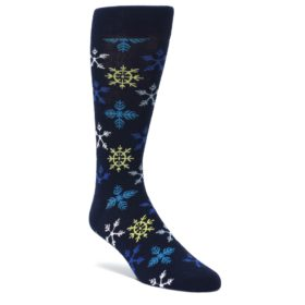 Navy-Winter-Snowflakes-Mens-Dress-Socks-Happy-Socks