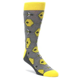 Honey bee socks for men by Statement Sockwear