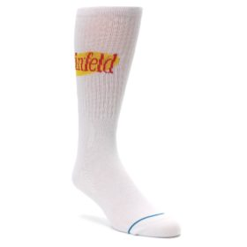 White-Yellow-Seinfeld-Logo-Mens-Casual-Socks-STANCE