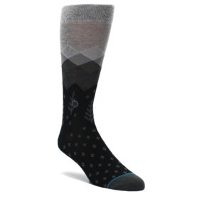 Gray-Black-Christmas-Trees-Mens-Casual-Socks-STANCE