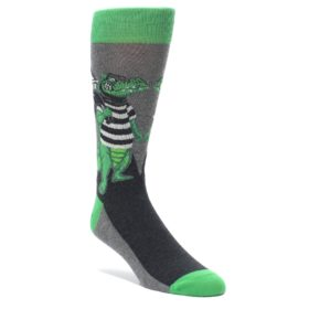 Crocodile Bank Robber Socks by Statement Sockwear