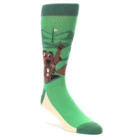 Go For It Gopher Golf Socks by Statement Sockwear for Men