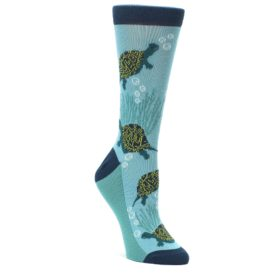 Aqua Sea Turtle Socks for Women by Statement Sockwear