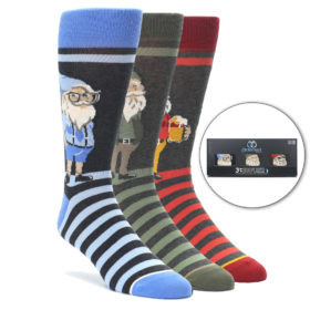 Gnome Sock Gift Box 3 Pack for Men by Statement Sockwear