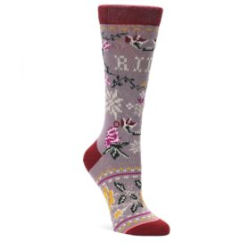 MEDIUM-Lilac-Floral-Slay-Ride-Womens-Casual-Socks-STANCE