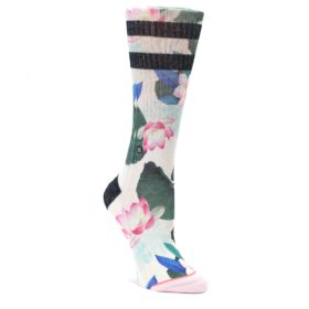 Pink-Green-Jaclyn-Floral-Womens-Casual-Sock-STANCE