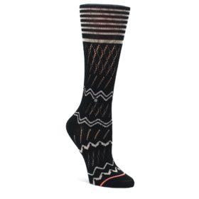 Black-Cream-Zig-Zag-Womens-Casual-Sock-STANCE