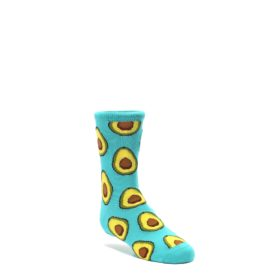 Aqua-Blue-Avocado-Kids-Dress-Socks-Socksmith