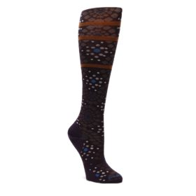 Purple-Pompeii-Dots-Wool-Womens-Knee-High-Socks-Smartwool