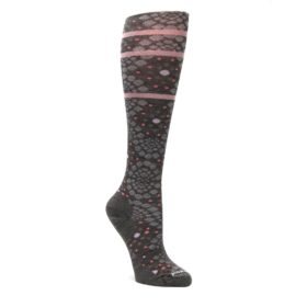 Taupe-Pink-Pompeii-Dots-Wool-Womens-Knee-High-Socks-Smartwool