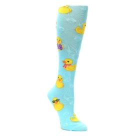 Light-Blue-Rubber-Ducks-Womens-Knee-High-Socks-K-Bell-Socks