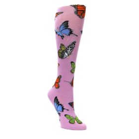 Orchid-Purple-Butterflies-Womens-Knee-High-Socks-K-Bell-Socks