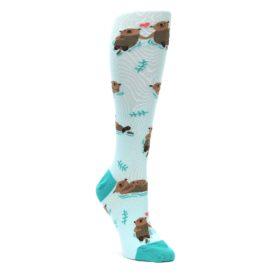 Aqua-Brown-My-Otter-Half-Womens-Knee-High-Sock-Sock-It-To-Me