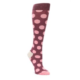 Pink-Polka-Dot-Womens-Knee-High-Socks-Happy-Socks