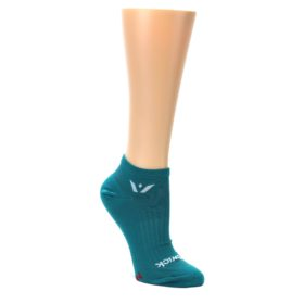 MEDIUM-Aqua-Solid-Aspire-Zero-Womens-No-Show-Athletic-Socks-Swiftwicks-Swiftwick