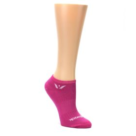 MEDIUM-Pink-Solid-Aspire-Zero-Womens-No-Show-Athletic-Socks-Swiftwick