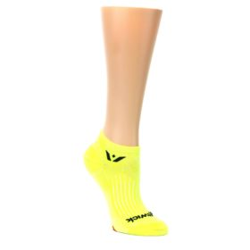 MEDIUM-Neon-Yellow-Solid-Aspire-Zero-Womens-No-Show-Athletic-Socks-Swiftwick