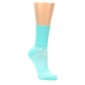 MEDIUM-Mint-Solid-Womens-Crew-Athletic-Socks-Swiftwick