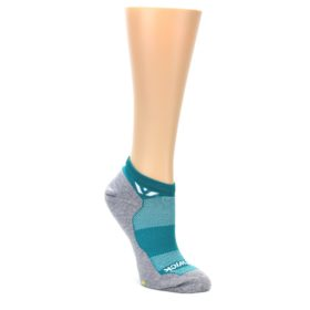 MEDIUM-Gray-Aqua-Maxus-Womens-No-Show-Athletic-Socks-Swiftwick