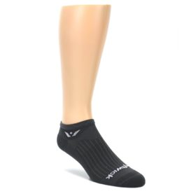 LARGE-Gray-Solid-Zero-Mens-No-Show-Athletic-Socks-Swiftwick