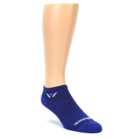 LARGE-Cobalt-Blue-Solid-Zero-Mens-No-Show-Athletic-Socks-Swiftwick