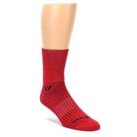 LARGE-Red-Solid-Mens-Crew-Athletic-Socks-Swiftwick