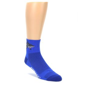 DeFeet Quarter Crew Shark Attack Socks