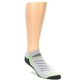 LARGE-Gray-Lime-Vibe-Zero-Mens-No-Show-Athletic-Socks-Swiftwick