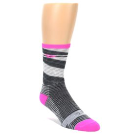 DeFeet Space Dyed Men's Pink and Gray Socks